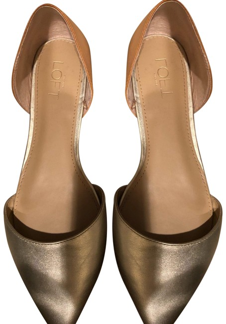 Item - Gold Pointy Flats Size US 9 Regular (M, B)