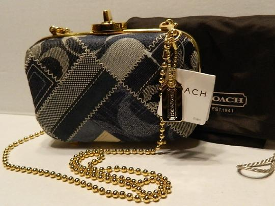 Coach New With Limited Edition Minaudiere Patchwork Shoulder Bag
