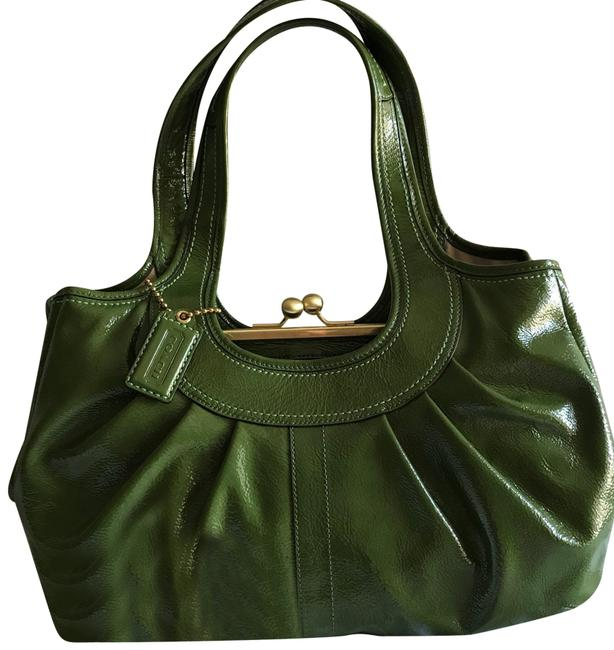 Coach Ergo Green Patent Leather Shoulder Bag Coach Ergo Green Patent Leather Shoulder Bag Image 1