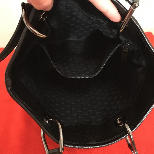 Vintage Gucci Small Tote Tote in Black/Grey