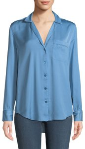 c11e3138594c5 Equipment Satin Button Down Shirt Blue