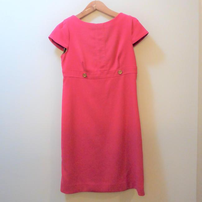 Lilly Pulitzer Knee Length Empire Waist Cap Sleeves Solid Color Dress