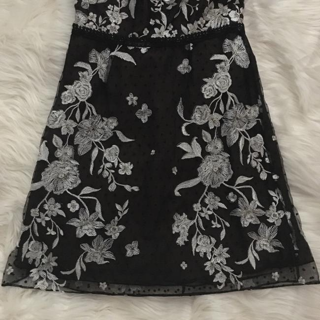 Marchesa Notte Lace Mesh Embroidered Floral Dress