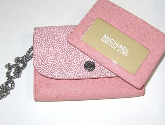 Michael Kors Leather Wallet 190049161722 Wristlet in Pale Pink