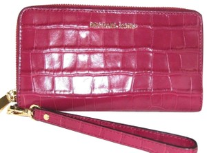 Michael Kors Leather Wallet 191262366918 Wristlet in Mulberry