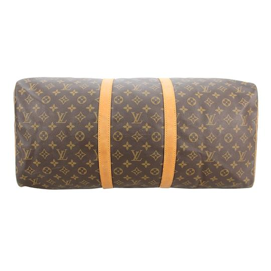 Louis Vuitton 55 Keepall Duffle Brown Travel Bag