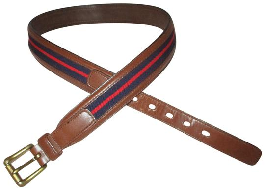 Preload https://img-static.tradesy.com/item/24624462/dooney-and-bourke-brown-navy-red-vintage-leather-and-canvas-strip-34-belt-0-1-540-540.jpg