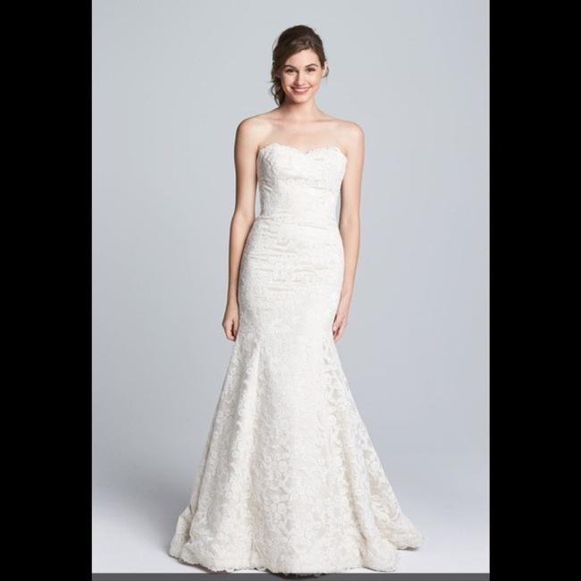 Hayley Paige Ivory/Champagne Lace Cricket Trumpet Mermaid Gown Vintage Wedding Dress Size 4 (S) Image 1