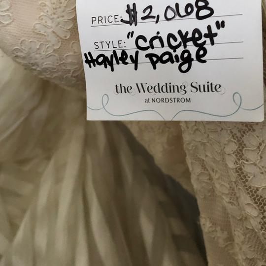 Hayley Paige Ivory/Champagne Lace Cricket Trumpet Mermaid Gown Vintage Wedding Dress Size 4 (S)