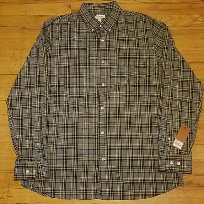 Preload https://img-static.tradesy.com/item/24624557/sonoma-gray-with-navy-and-yellow-plaid-men-s-button-down-top-size-12-l-0-2-650-650.jpg