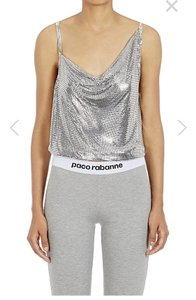 paco rabanne Metal Mesh Sleeveless Made In France Top Silver