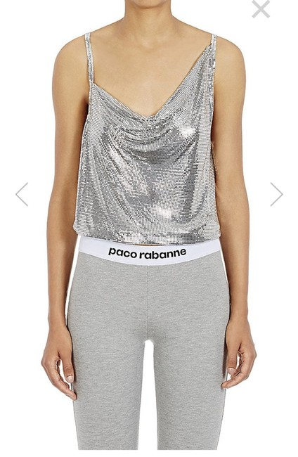 Preload https://img-static.tradesy.com/item/24624567/paco-rabanne-metal-mesh-draped-front-silver-top-0-0-650-650.jpg