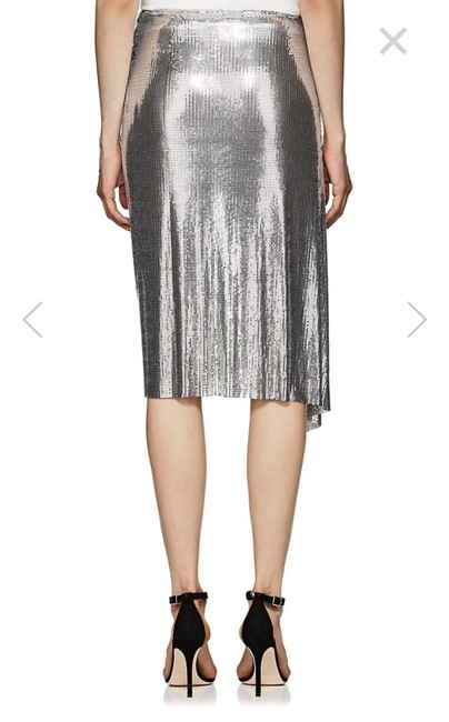 paco rabanne Aluminum Made In France Cocktail Dress Below Knee New Collection Skirt Silver