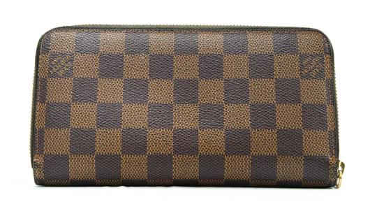 Louis Vuitton Authentic Louis Vuitton Damier Ebene Zippy Wallet LV N60015 LV