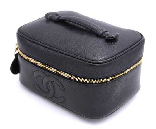 Chanel Cosmetic Satchel in Black