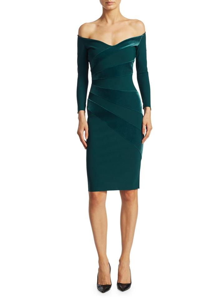La Petite Robe Di Chiara Boni Green Kaliska Off The Shoulder Long