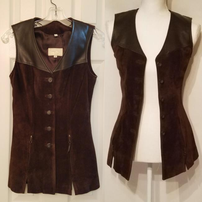 Preload https://img-static.tradesy.com/item/24624609/cache-leather-and-suede-vest-top-0-0-650-650.jpg