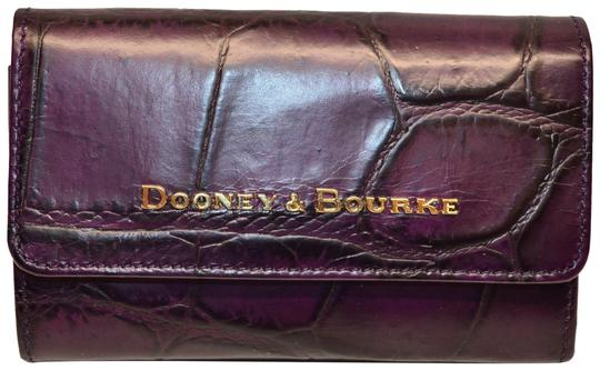Preload https://img-static.tradesy.com/item/24624610/dooney-and-bourke-plum-wine-denison-croco-flap-emb-leather-tri-fold-wallet-0-1-540-540.jpg