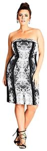 City Chic Strapless Lace Dress
