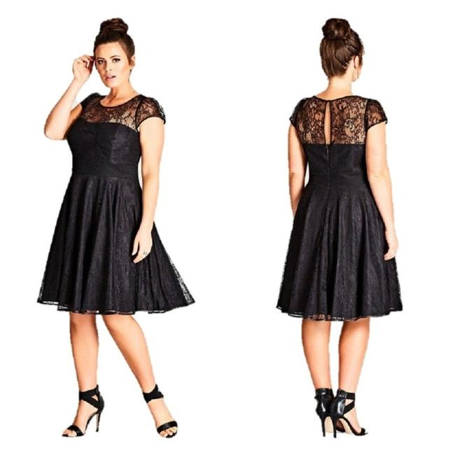 Preload https://img-static.tradesy.com/item/24624654/city-chic-black-lace-audrey-fit-and-flare-medium-18w-mid-length-cocktail-dress-size-18-xl-plus-0x-0-0-650-650.jpg
