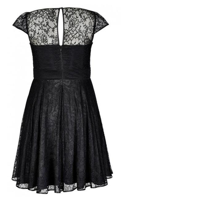 City Chic Fit & Flare Lace Illusion Dress