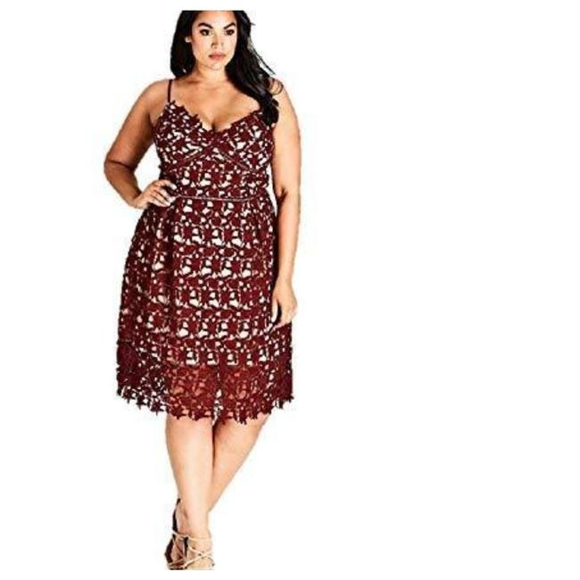 Preload https://img-static.tradesy.com/item/24624676/city-chic-red-trendy-so-fancy-lace-ruby-m-18w-mid-length-cocktail-dress-size-18-xl-plus-0x-0-0-650-650.jpg
