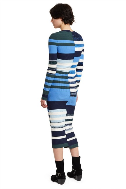 Blue Maxi Dress by Opening Ceremony Sweater Space Dye Knit