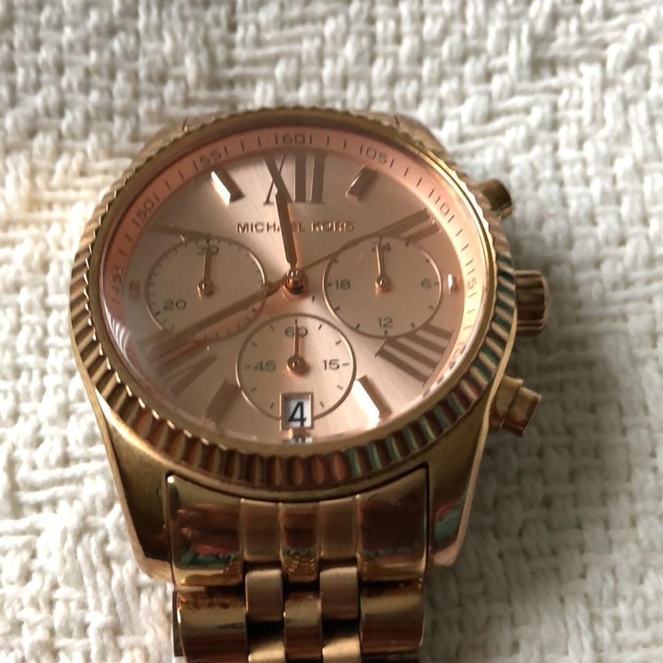 6a6bfbace342 Michael Kors Large Lexington Chronograph Bracelet Watch Image 6. 1234567