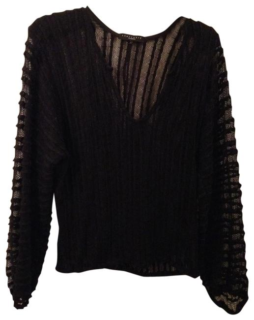 Sanctuary Sheer Size Sm Black Sweater Sanctuary Sheer Size Sm Black Sweater Image 1