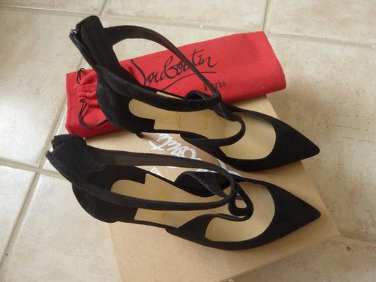 Christian Louboutin Suede Stiletto Italian Black Pumps