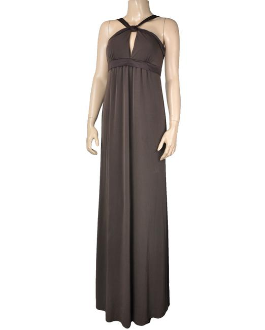 Brown Maxi Dress by Max and Cleo Keyhole Maxi Empire Waist