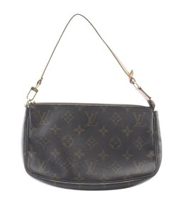 Louis Vuitton Pochette Coated Canvas Pre-owned Canvas Gold-tone Cross Body Bag