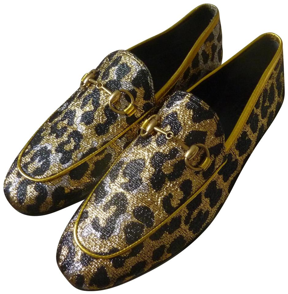 0d27309533b Gucci Black Multi New Jordaan Leopard Print Loafers Flats Size US ...