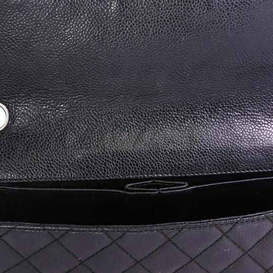 CC Chain Flap Bag Quilted Caviar East West Chanel Leather Shoulder Bag