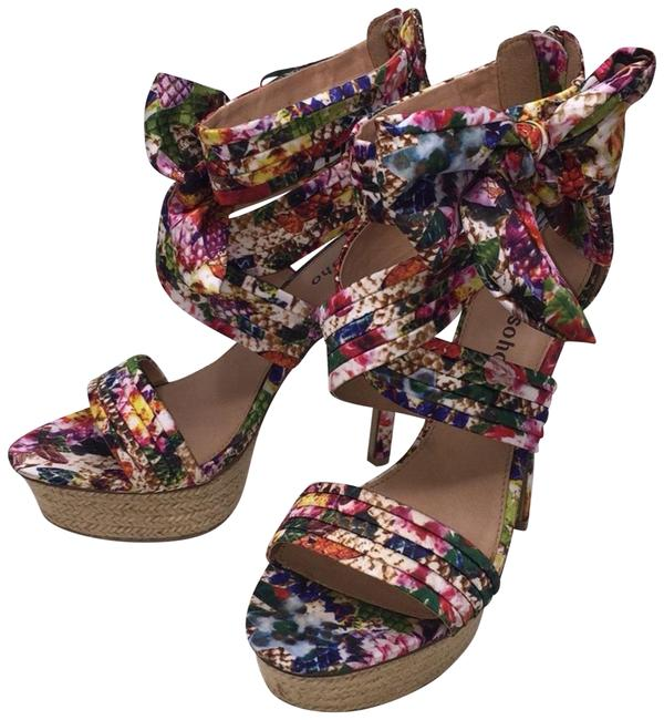 ZIGI soho Multicolor Bow Floral Wedges Size US 8 Regular (M, B) Image 1