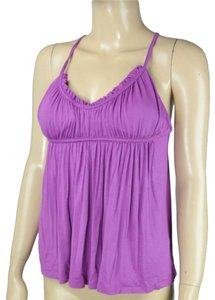 BCBGeneration Bcbg Ruched Babydoll Top Purple