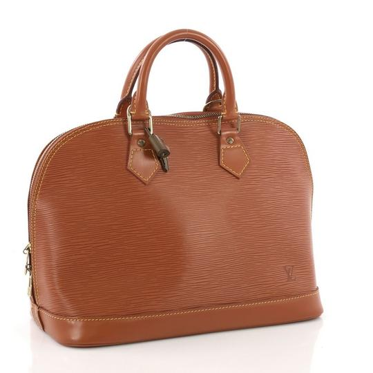 Louis Vuitton Leather Satchel in brown