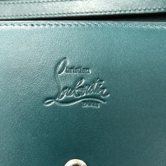 Christian Louboutin Leather Wristlet in teal