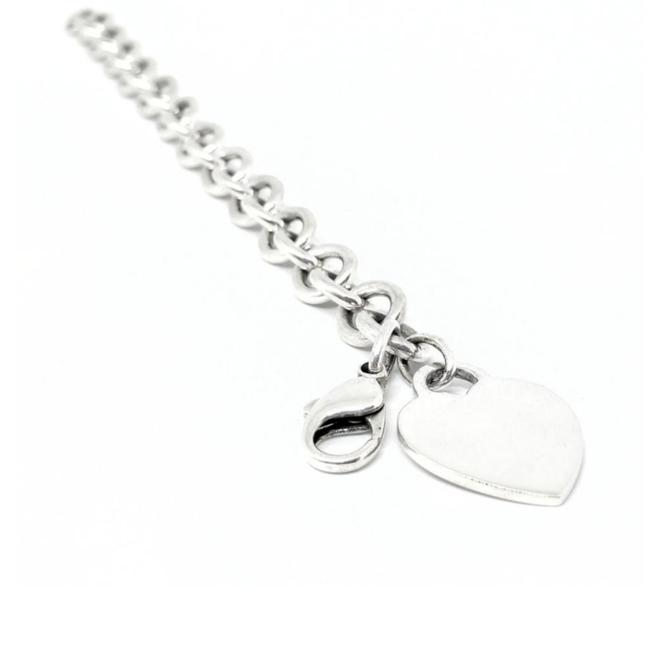 "Tiffany & Co. Sensational Heart Tag Sterling Silver 7.5"" Guaranteed Comes with Polishing Cloth and Pouch Bracelet Image 1"