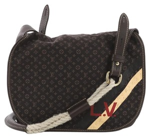 Louis Vuitton Satchel Leather Shoulder Bag