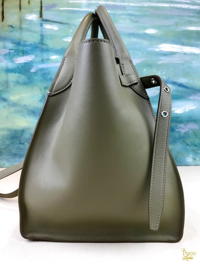 Céline Leather Big Tote in Green