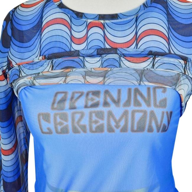 Preload https://img-static.tradesy.com/item/24624903/opening-ceremony-blue-graphic-double-layer-mesh-2-in-1-logo-blouse-size-8-m-0-1-650-650.jpg