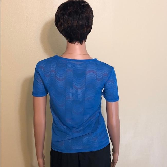 Opening Ceremony Layered Mesh Rare Logo Top Blue Graphic