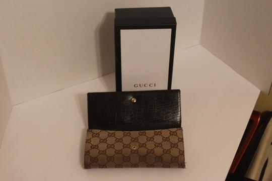 Gucci Gucci Canvas and Leather Horsebit Wallet