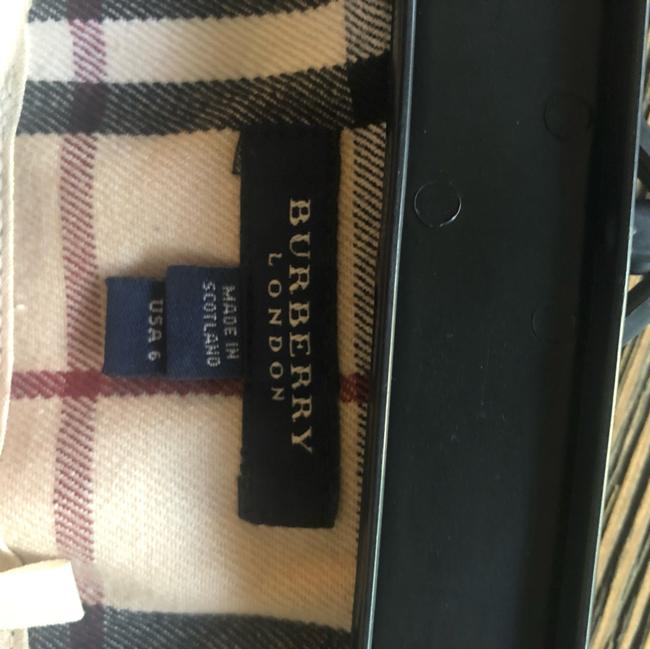 Burberry Mini Skirt tan, black and red