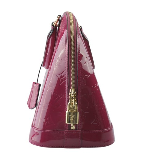 Louis Vuitton Patent Leather Dustbag Receipt Gold-tone Satchel in xPink