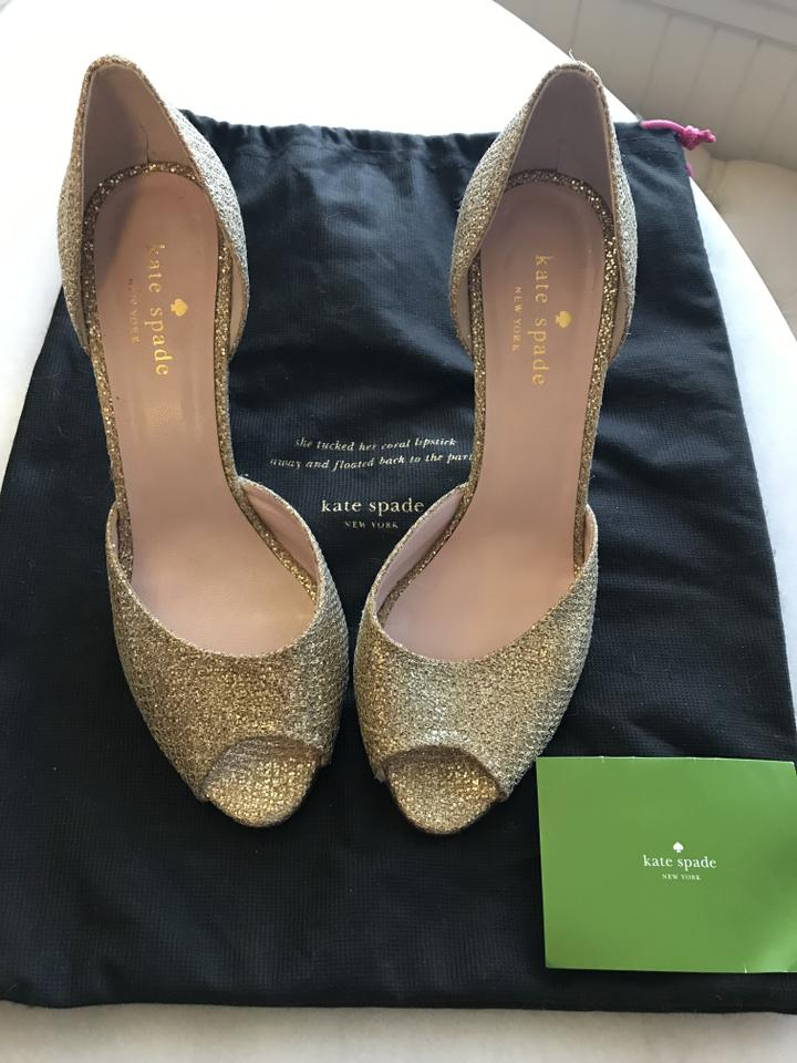 dd496ea34875 Kate Spade Gold Style   S741521g   Sage Heels Formal Shoes Size US ...
