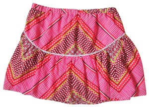 Banana Republic Boho Aztec Tribal Spring Summer Mini Skirt Multicolored