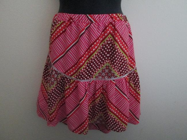 Banana Republic Boho Aztec Tribal Spring Summer Mini Skirt Multicolored Image 1