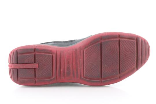 Prada Multicolor Ala Leather Black Red Sneakers Shoes Image 10